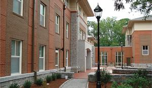 college building scene