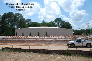 completed kirkland road water tank
