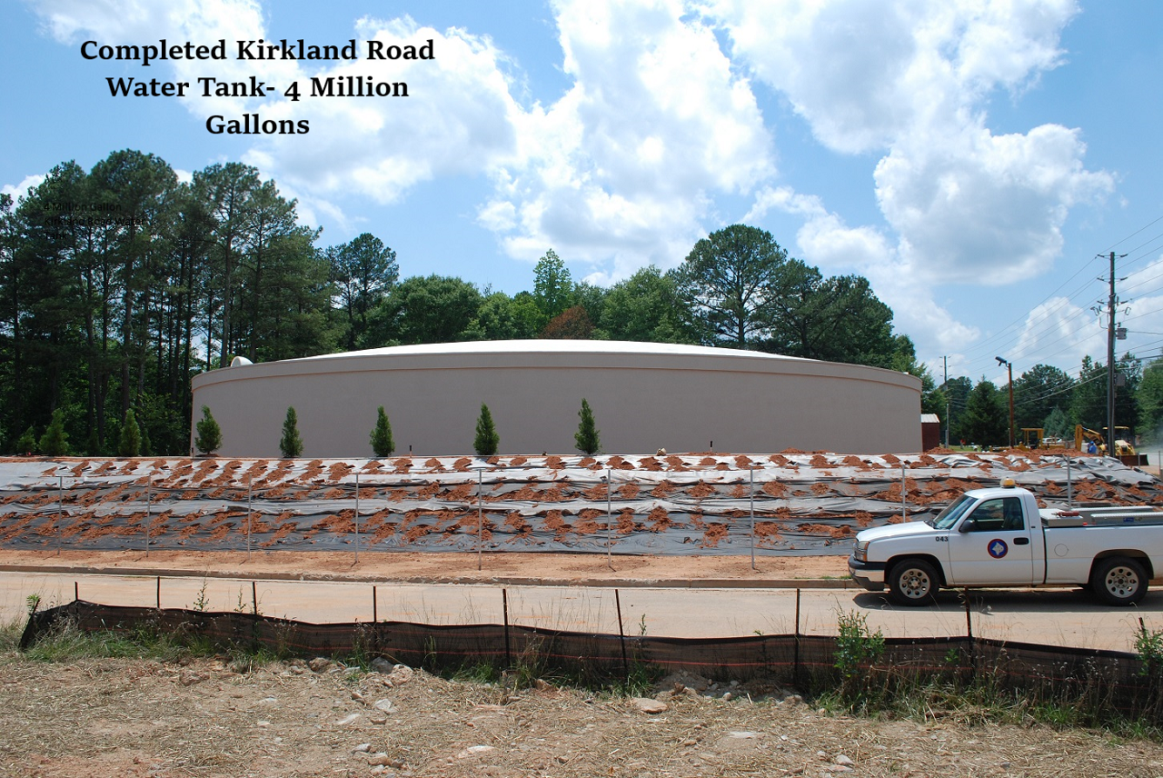 completed kirkland road water tank