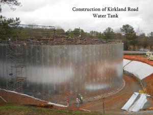 construction of kirkland road water tank scene