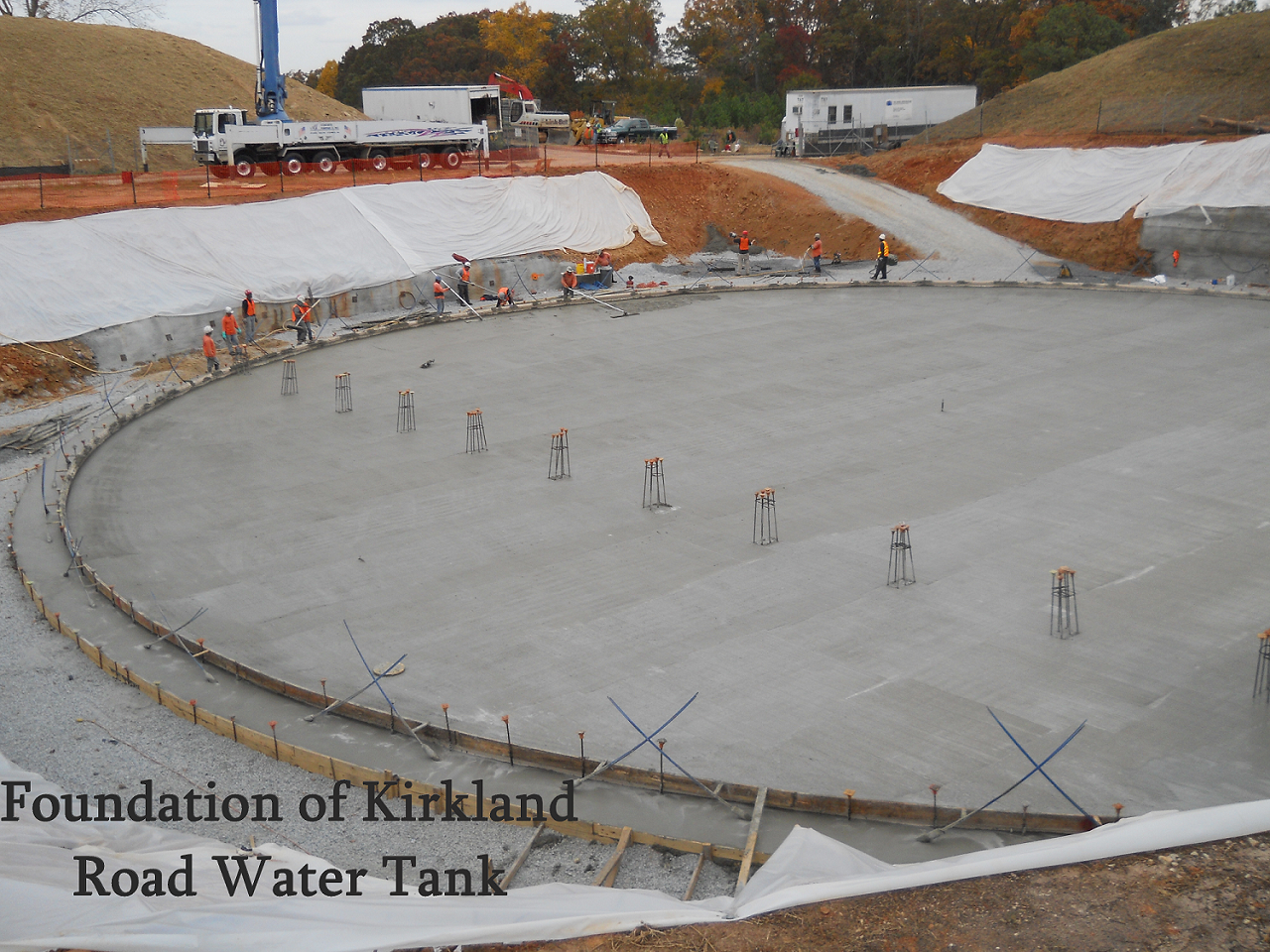 foundation of kirkland road water tank