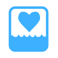 water heart logo