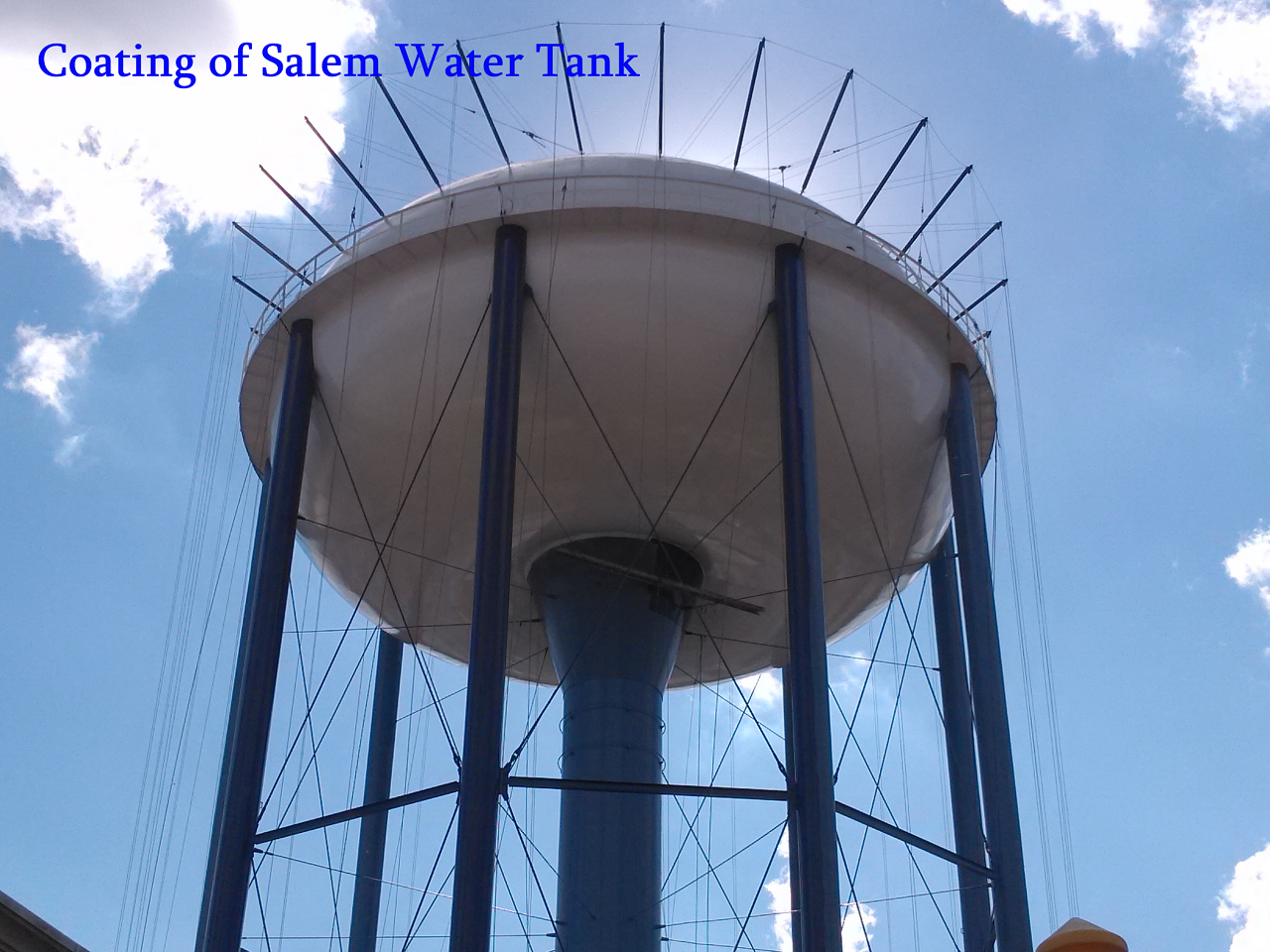 coating salem large water tank