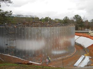kirkland road water tank construction